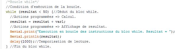 while présentation 5