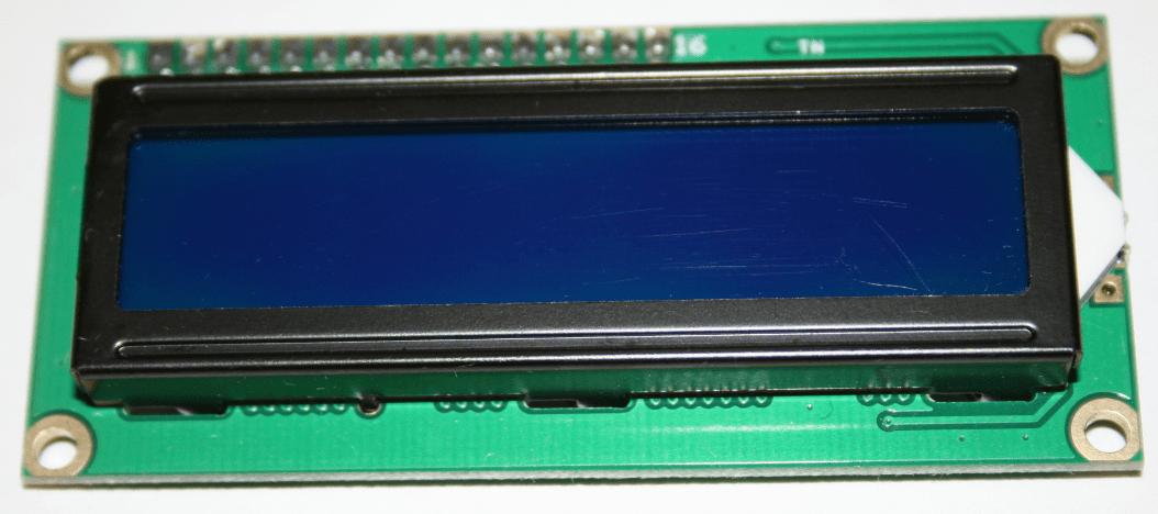 Vue de face d'un afficheur LCD.