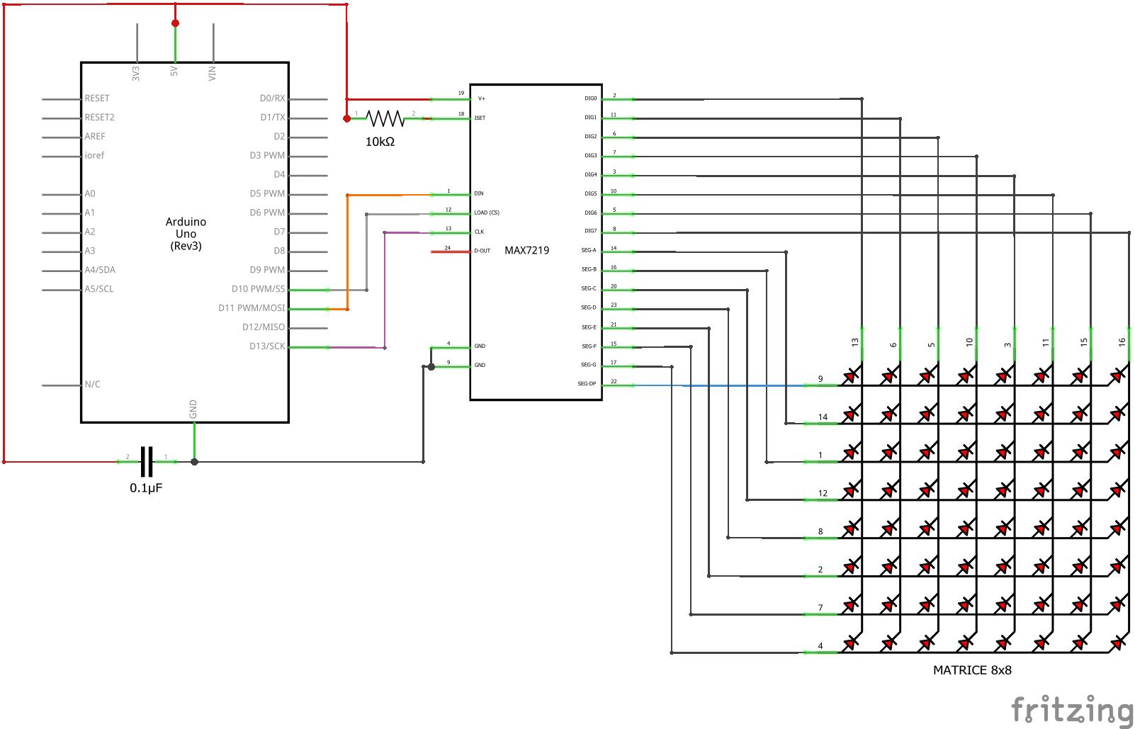 Matrice à led 8x8
