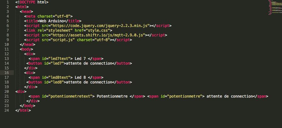 fichier index html